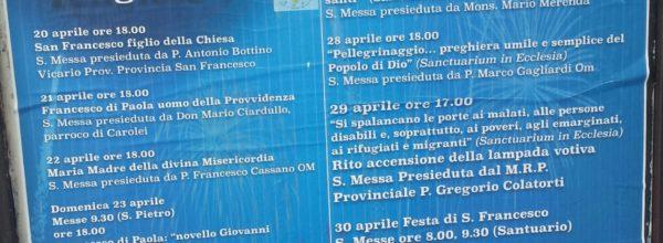 Paterno Calabro, festa in onore di San Francesco