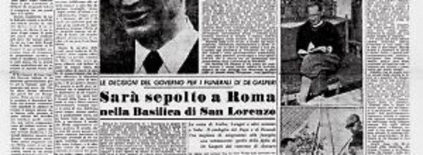 In ricordo di un grande statista: Alcide De Gasperi