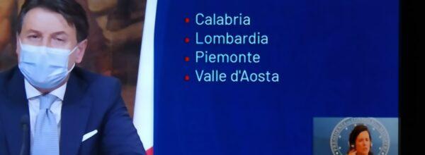 Calabria zona Rossa. Le restrizioni elencate da Conte